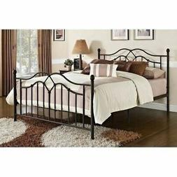 Full Queen King Size Bronze Finish Metal Platform Bed Frame