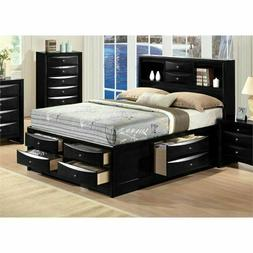 ACME Furniture Ireland Queen Storage Bed in Black Modern and