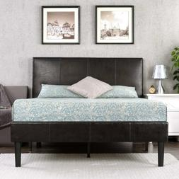 Zinus Gerard Deluxe Faux Leather Upholstered Platform Bed wi