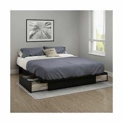 South Shore Gramercy Full Queen Platform Bed with Drawer in
