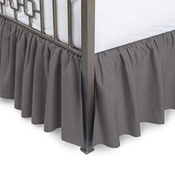 Harmony Lane Ruffled Bed Skirt with Split Corners - Queen, D