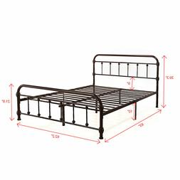 heavy duty metal frame bed platform king