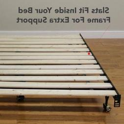Modern Sleep HeavyDuty Wooden Bed Slats Bunkie Board Frame f