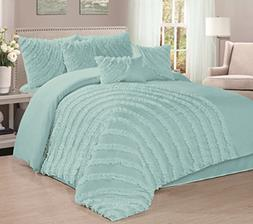 7 Piece Hillary Bed in a Bag Comforter Sets- Queen King Cal.