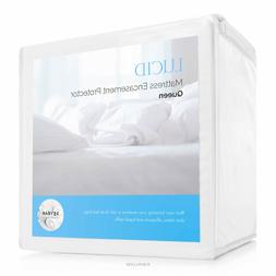 LUCID Hypoallergenic Mattress Protector Encasement - WATERPR