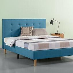 Zinus Ibidun Upholstered Button Tufted Platform Bed, Riversi