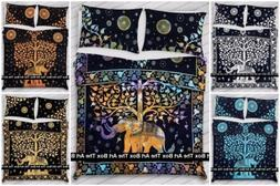 Indian Elephant Tree Of Life Duvet Cover Queen Size Ethnic D