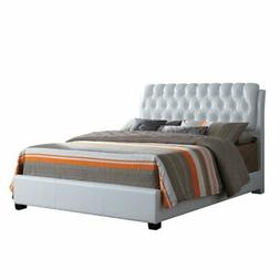 ACME Furniture Ireland II Button Tufted Queen Bed in White