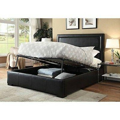 25240q salem queen bed black pu 1