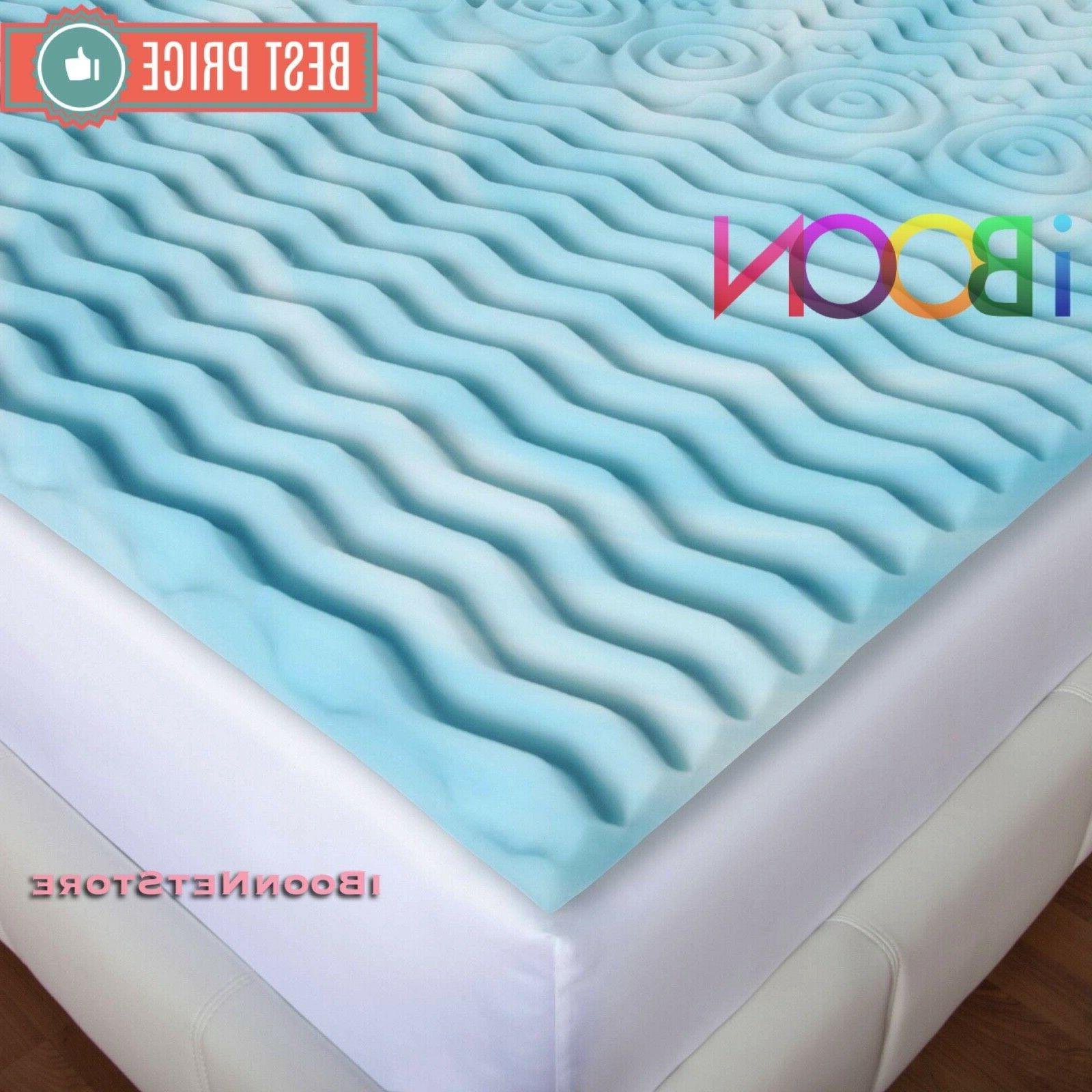3 INCH Memory Mattress Topper Size Gel Cover bed