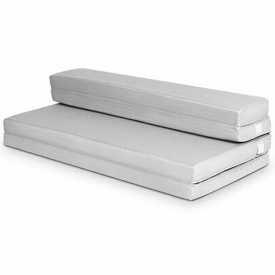 "4"" Queen Size Foam Folding Mattress Sofa Bed Guests Floor Ma"