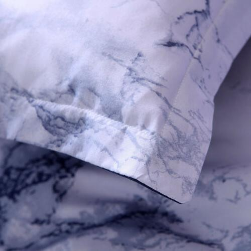 4 Piece Marble 1800 Count Bed Sheet Deep Soft Bedding
