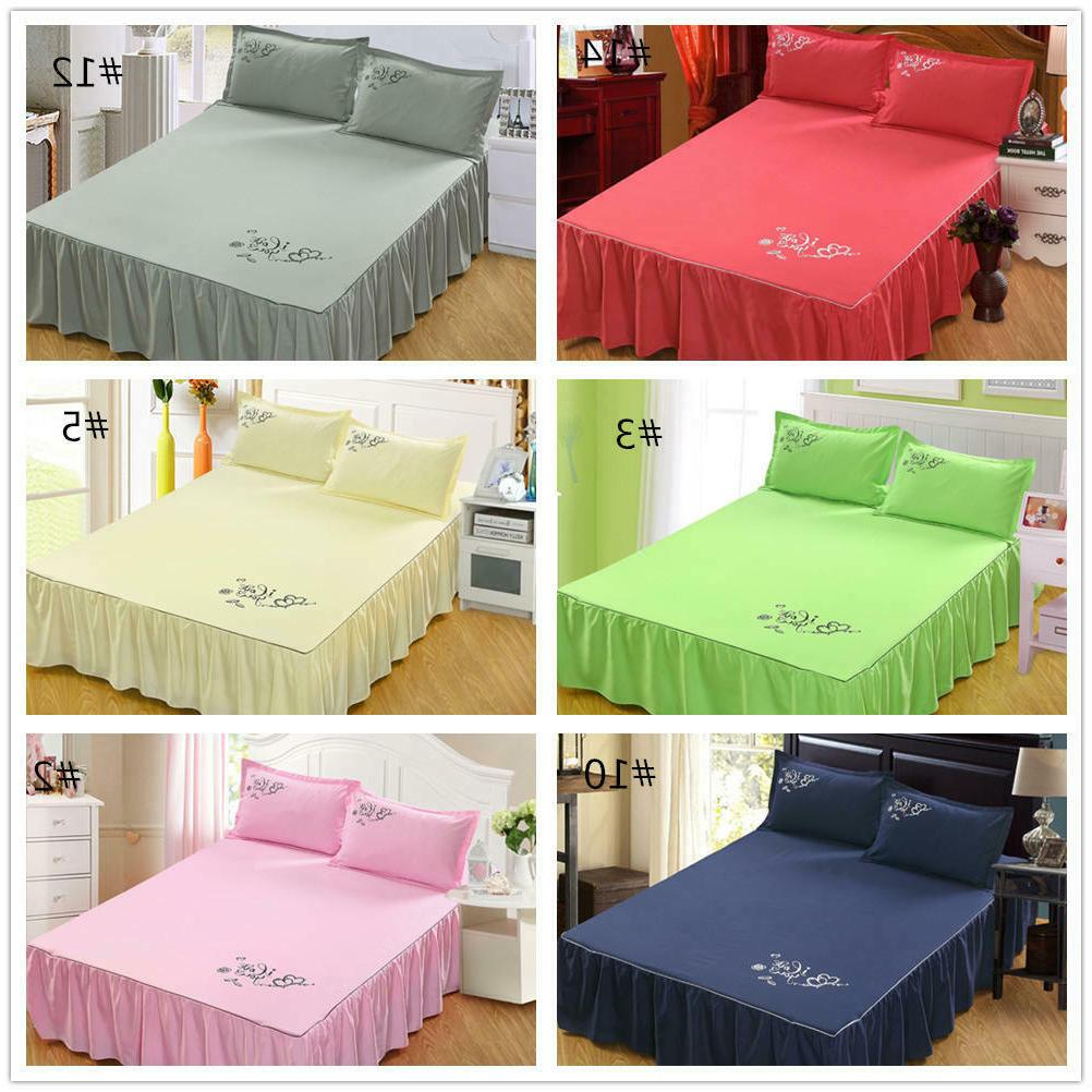 "45cm/18"" Drop Dust Bed Bedspread Queen King"