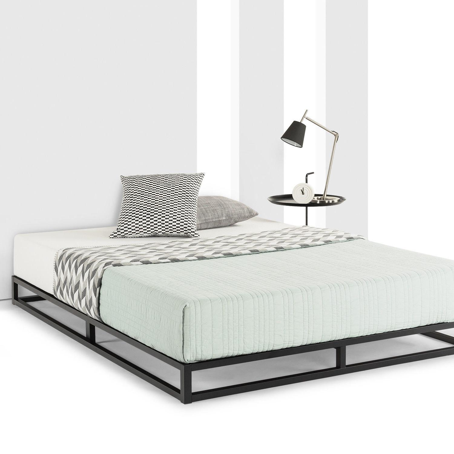 6 10 metal platform bed frame wooden