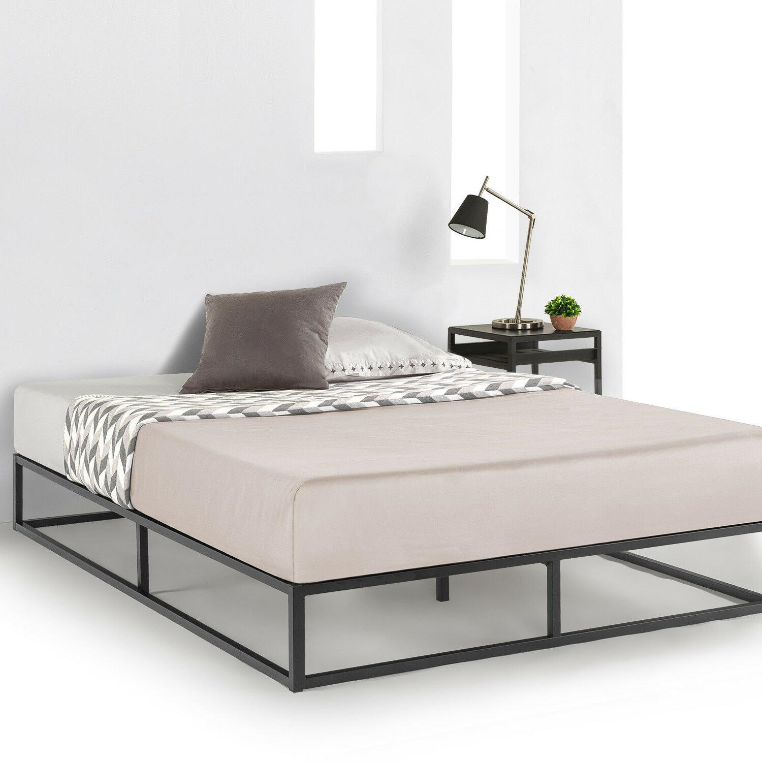 Metal Platform Wooden Mattress Foundation Dorm Twin