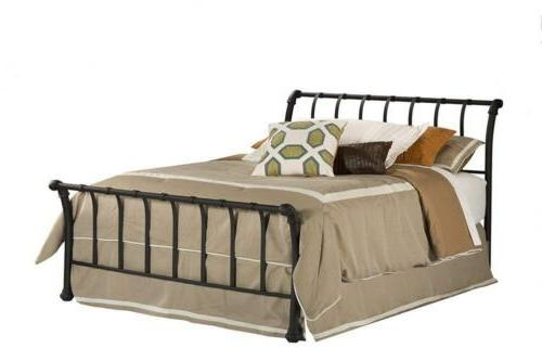 Hillsdale Furniture 1655BQR Janis Metal Sleigh Bed Set with