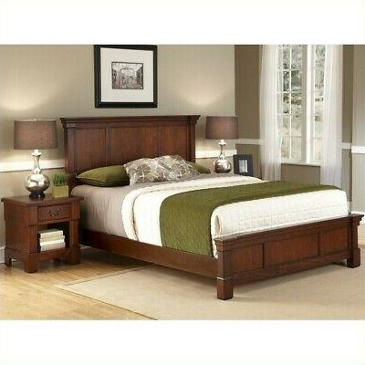 Home Styles The Aspen Collection Queen Bed and Night Stand