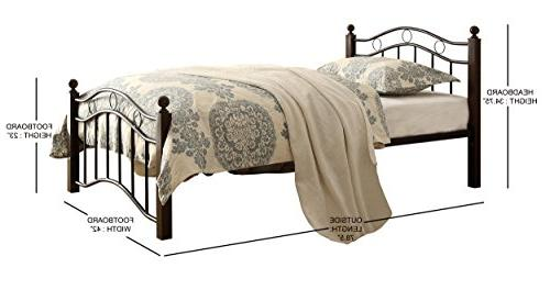 Homelegance 2020TBK-1 Bed, Twin, Brown
