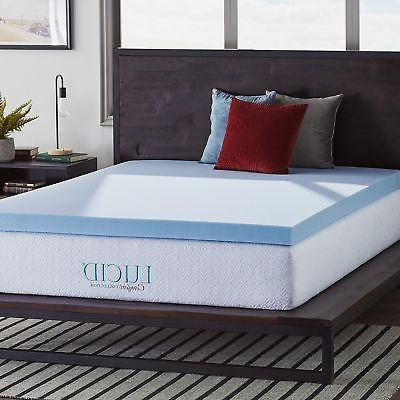 LUCID 4 inch Queen Size Cooling Gel Ultra Plush Memory Foam