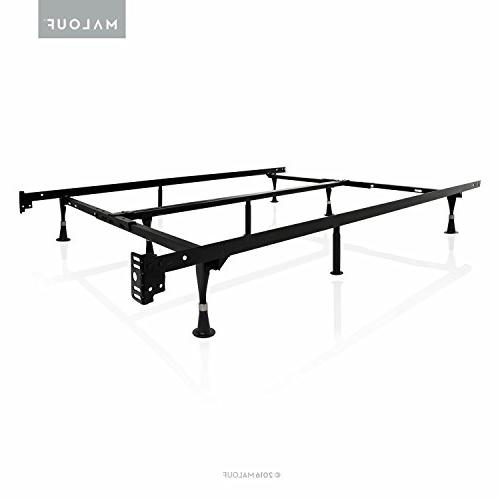 MALOUF STRUCTURES by Heavy Duty 9-Leg Adjustable Metal Bed F