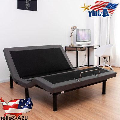Queen Electric Bed Frame Power Adjustable Base Massage Zero