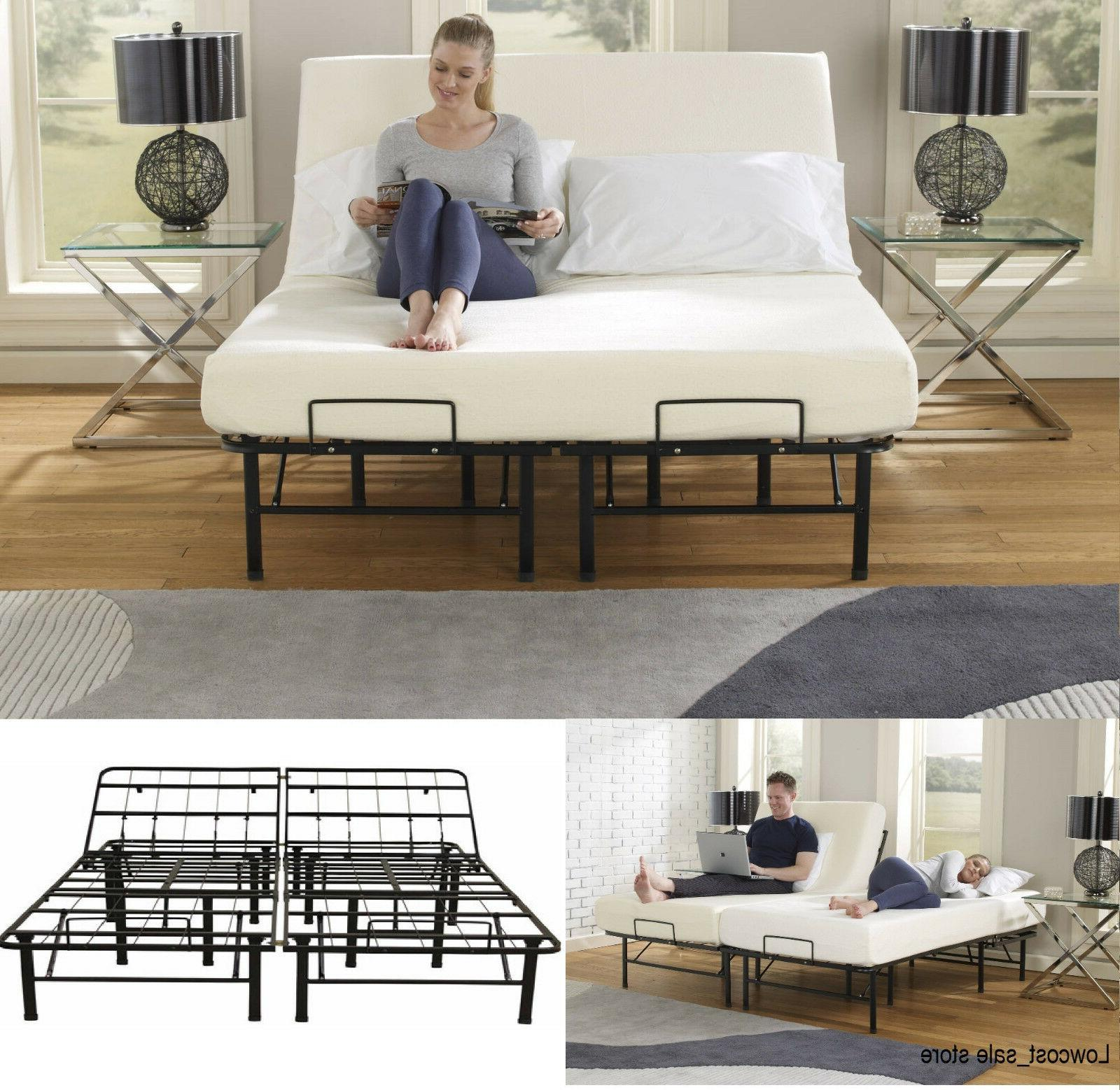Queen Size Adjustable Bed Frame Head Lift Control