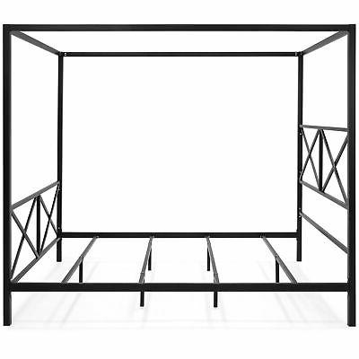 BCP Modern Metal Queen Bed Frame Black