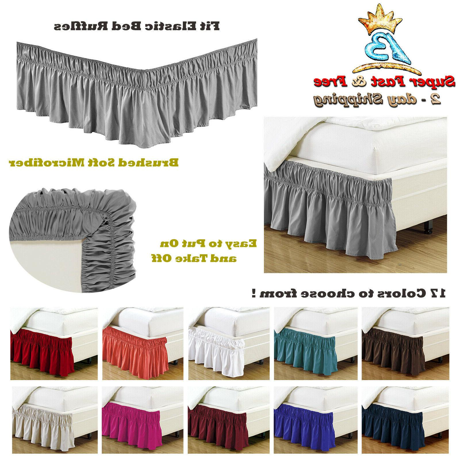 Bed Dust Ruffle Skirt Queen King Twin Full Size Wrap Around