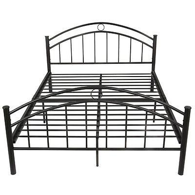 Costway Black Queen Metal Frame Platform