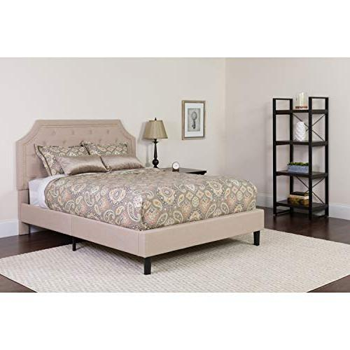 Flash Brighton Upholstered Queen Platform Bed Fabric