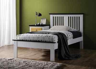 brooklet queen bed in white and black