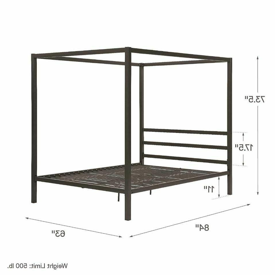 Canopy Bed 4 Poster Queen Size Home
