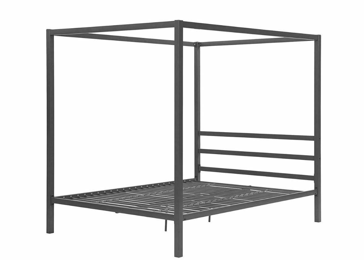 Canopy Bed 4 Size Metal Bedroom