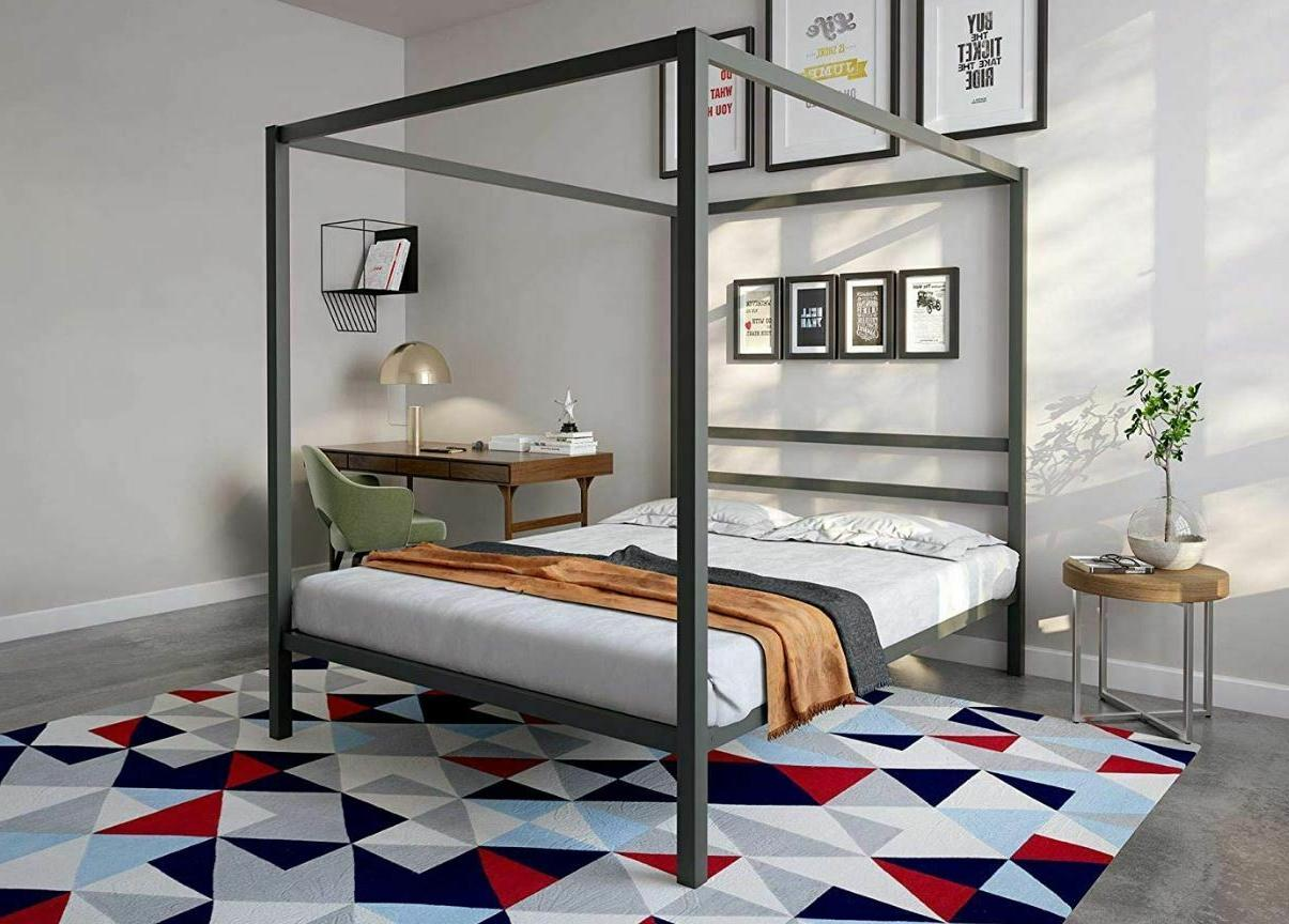 canopy bed frame kit 4 poster queen