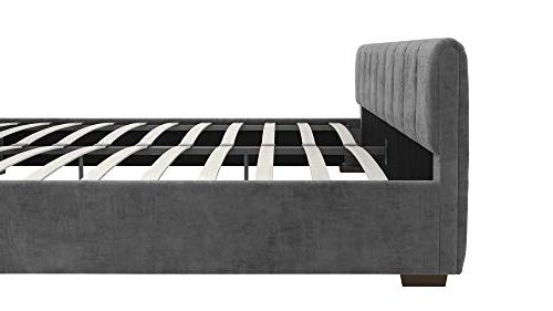 DHP Upholstered with Luxurious Design, - Grey
