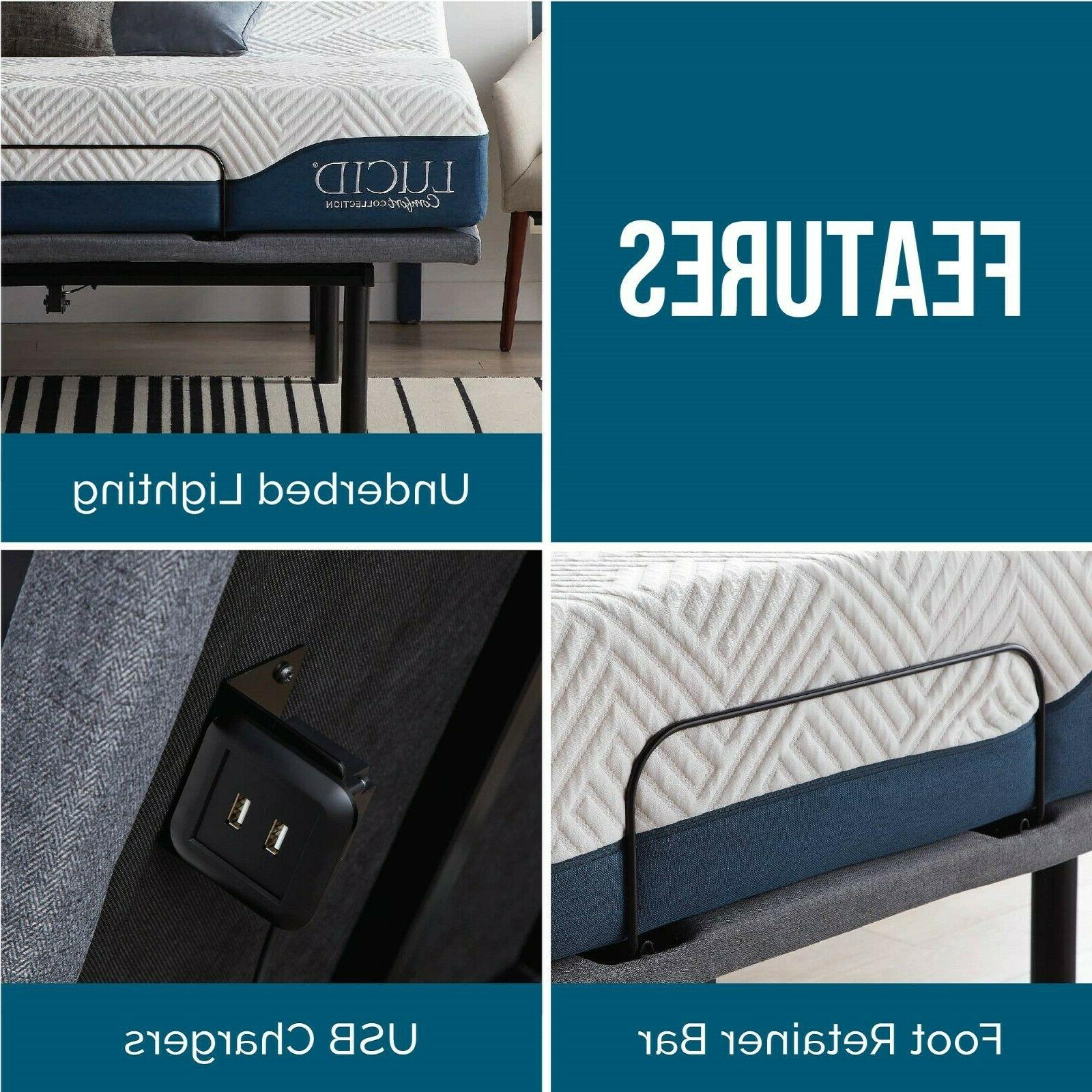 LUCID Comfort Collection Deluxe Adjustable