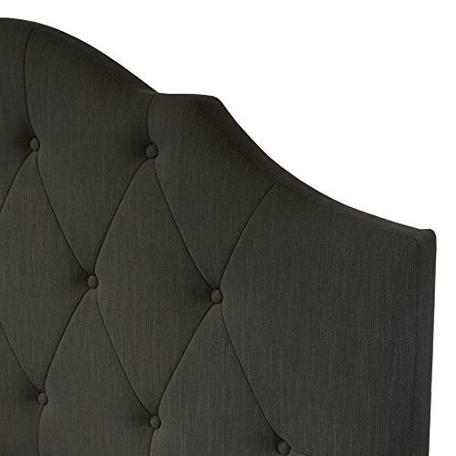 Light Grey 86.5 x 65.0 x 59.0 Pulaski DS-2015-290-499 Queen Scalloped Tufted Upholstered Bed