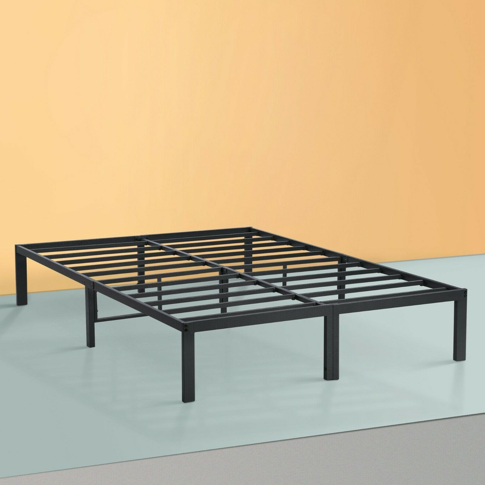 dura metal steel slate bed frame gray