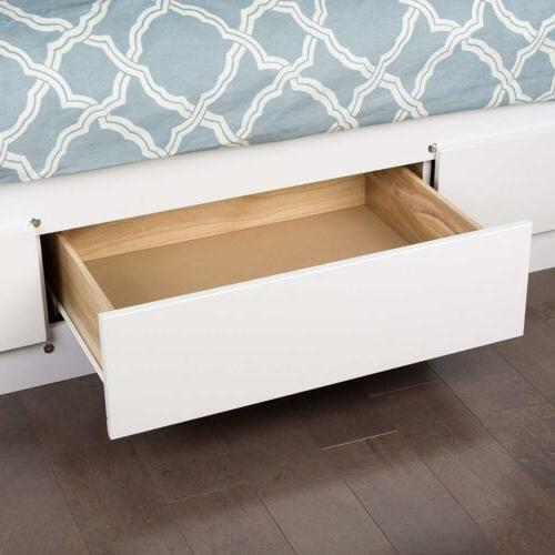 Prepac Storage Bed with Drawers, White