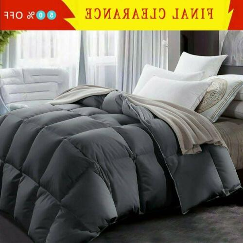 goose down alternative supersoft luxury comforter king