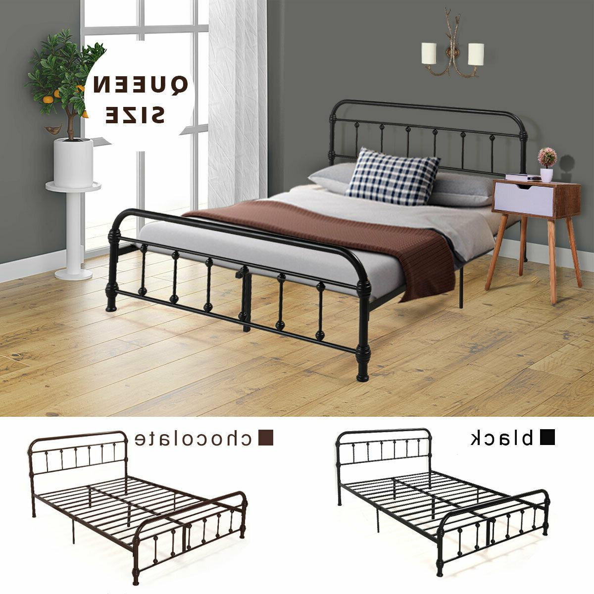 Heavy Metal Frame Bed Bedroom Furniture Bed