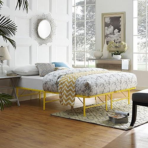 horizon queen bed frame yellow