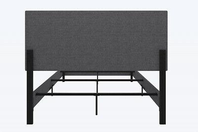 DHP Janford Bed With Grey Linen, Queen