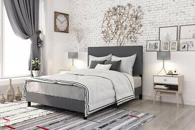 janford upholstered bed with chic upholstered headboard