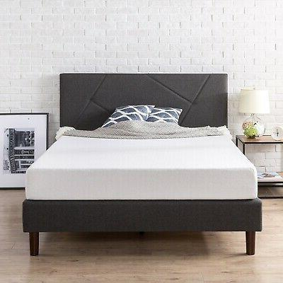 Zinus Judy Upholstered Paneled Platform Bed with Wood Slat