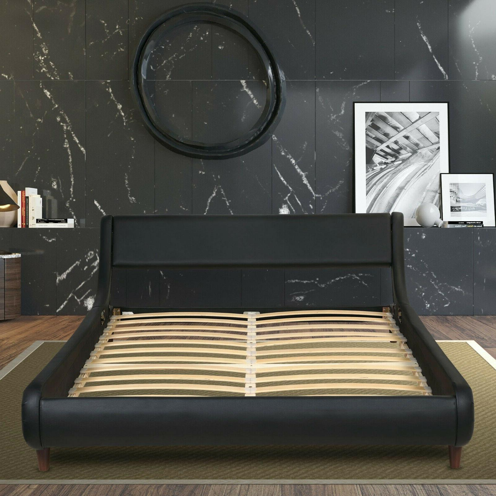 king queen full size bed frame pu