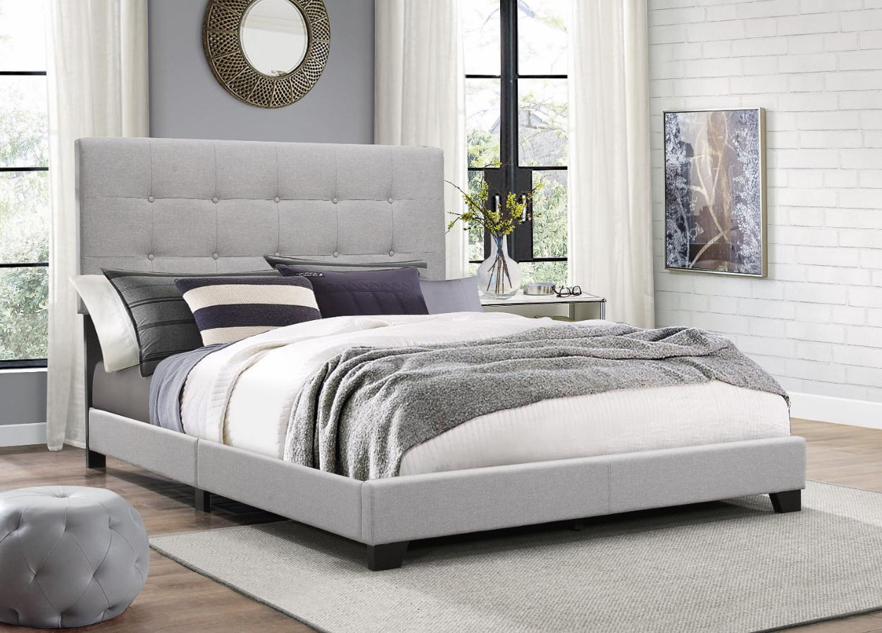king size platform bed frame w tufted