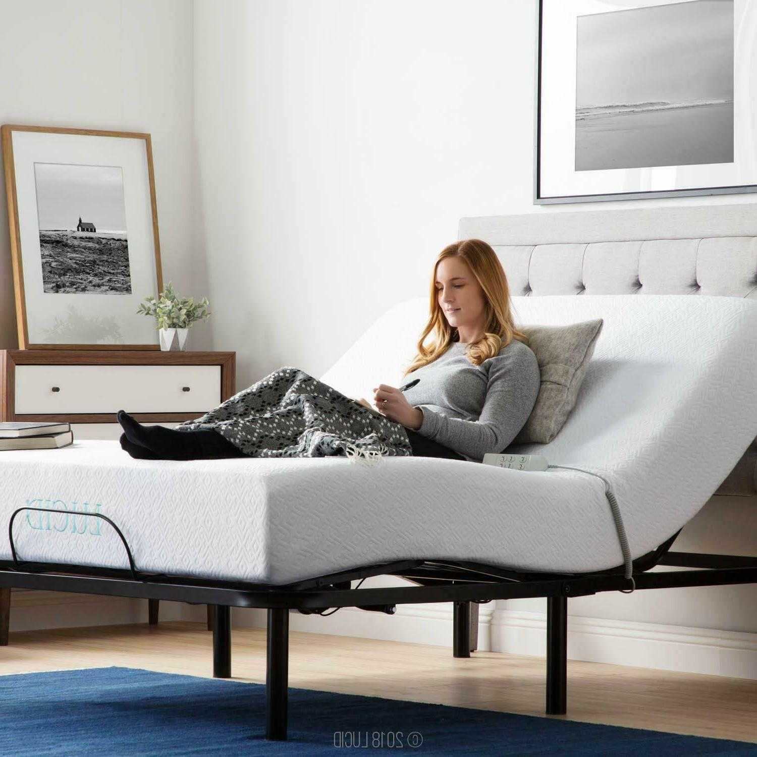 Adjustable Bed Base Heavy Duty Steel Multi Position Wired Re
