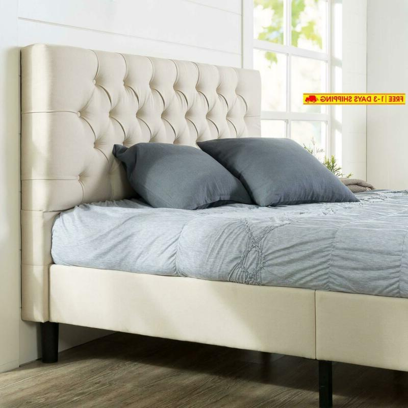 misty upholstered modern classic tufted platform bed