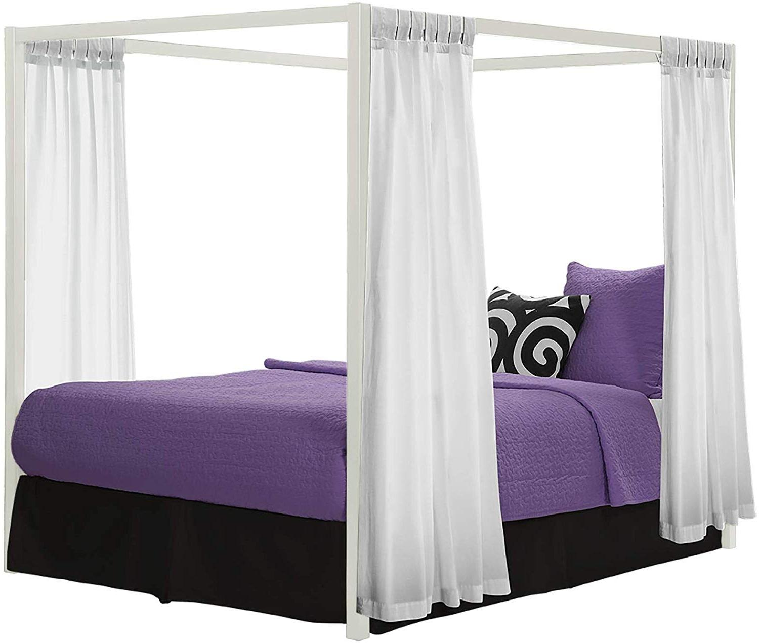 DHP Canopy Bed with Classic Design,